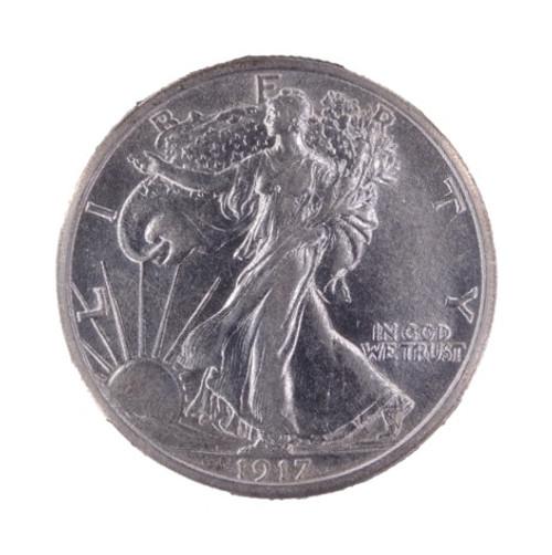 1917 Walking Liberty Half Dollar XF45 NGC - obverse