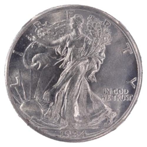 1934 Walking Liberty Half Dollar AU58 NGC - obverse