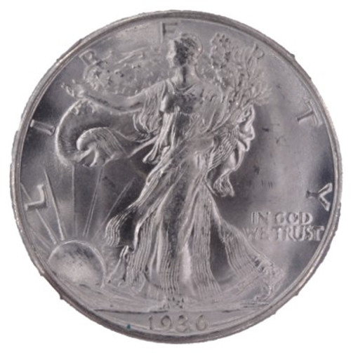 1936-D Walking Liberty Half Dollar MS64 NGC - obverse