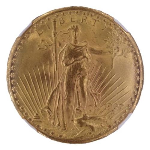 1927 Saint-Gaudens Double Eagle MS64 NGC - obverse
