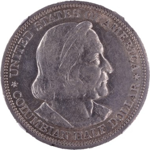 1892 Columbian Commemorative Half Dollar AU55 NGC - Obverse