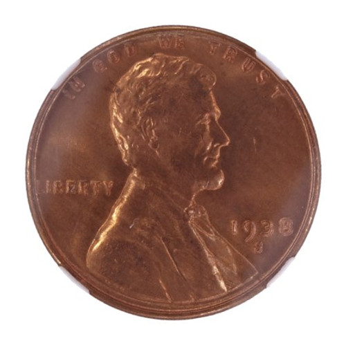 1938-S/S Lincoln Cent FS-501 MS67 Red NGC - obverse