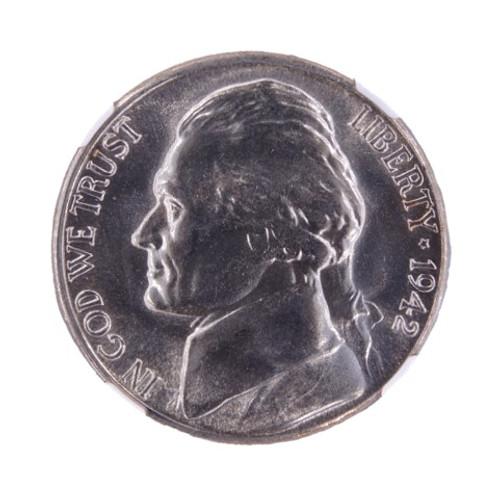 1942-S Jefferson Nickel Silver MS65 NGC