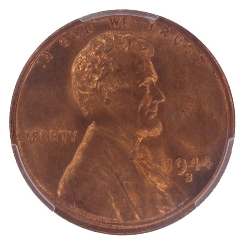 1944-S Lincoln Cent MS67+ Red CAC PCGS - obverse