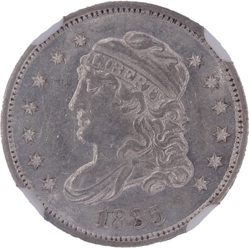 1835 Capped Bust Half Dime MS61 NGC - Large Date, Large 5C Variety - obverse
