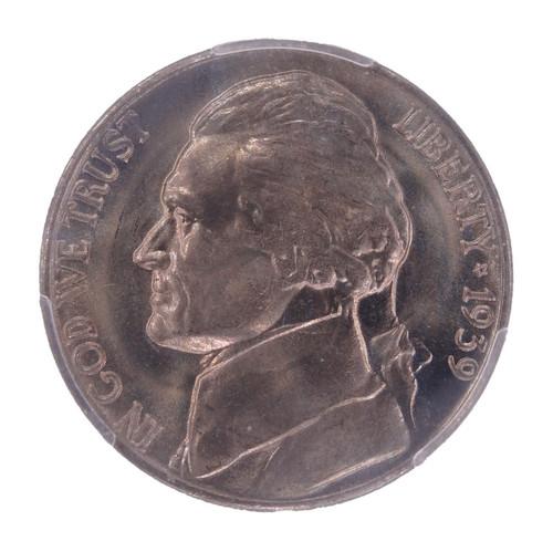 1939-D Jefferson Nickel Reverse of 1940 MS66 PCGS - obverse