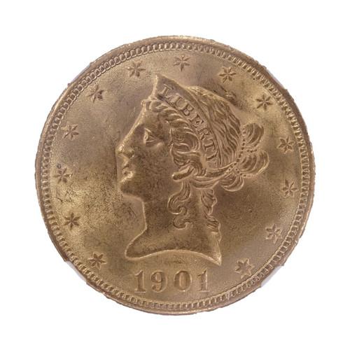 1901 Liberty Head Gold Eagle MS61 NGC - obverse