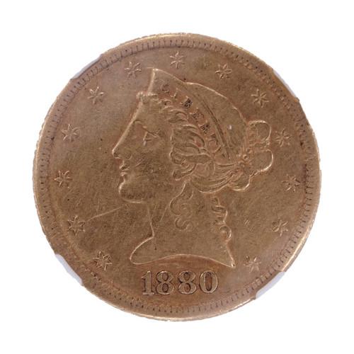 1880-CC Liberty Head Gold Half Eagle XF45 NGC - obverse