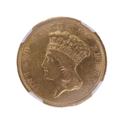 1854 Three Dollar Gold Piece XF Details NGC - Obverse