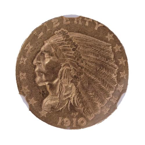 1910 Indian Head Gold Quarter Eagle MS61 NGC - Obverse