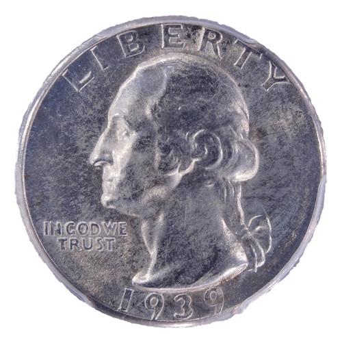 1939-D Washington Quarter MS64 NGC - obverse