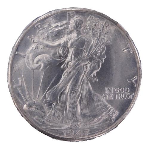 1947-D Walking Liberty Half Dollar MS62 NGC - obverse