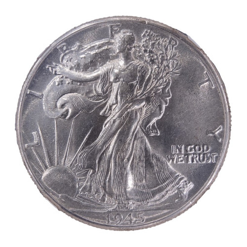 1945 Walking Liberty Half Dollar AU55 NGC - obverse