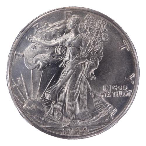 1944-D Walking Liberty Half Dollar AU58 NGC - obverse