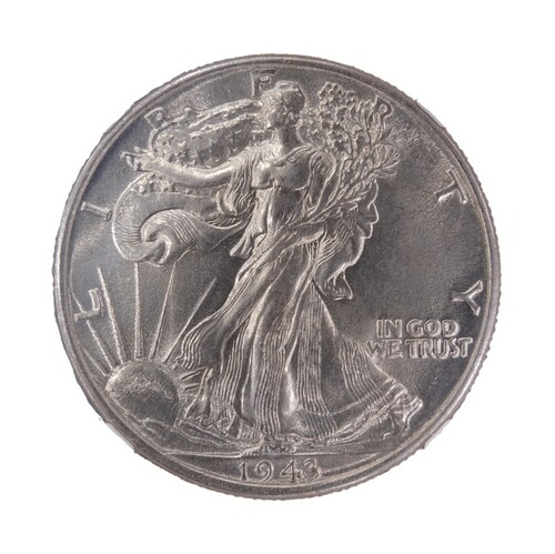 1943 Walking Liberty Half Dollar UNC Details NGC - obverse