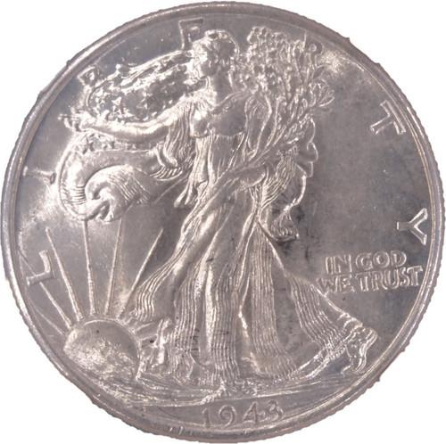1943 Walking Liberty Half Dollar AU55 NGC - obverse