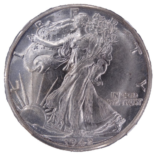 1942-D Walking Liberty Half Dollar AU53 NGC - obverse
