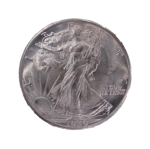 1939-D Walking Liberty Half Dollar MS64 NGC - obverse