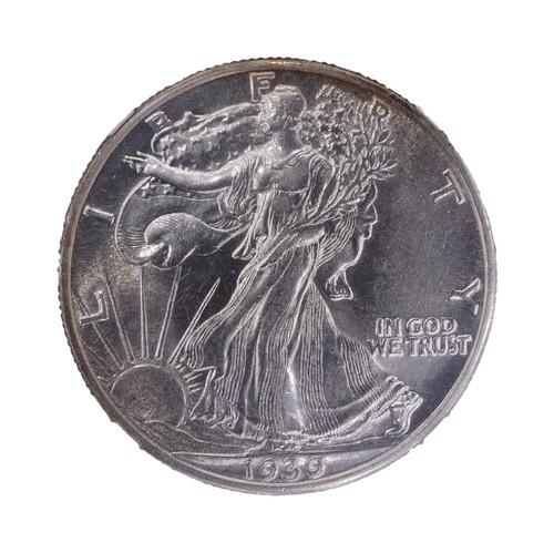 1939 Walking Liberty Half Dollar AU55 NGC - obverse