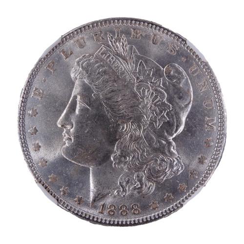 1888 Morgan Dollar MS64 NGC - obverse