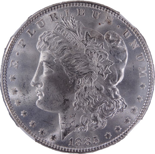 1885 Morgan Dollar MS64 NGC - Obverse