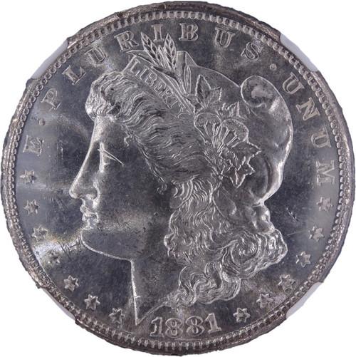 1881-S Morgan Dollar MS64 NGC - Obverse