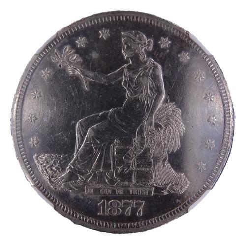 1877-S Trade Dollar AU Details NGC - obverse