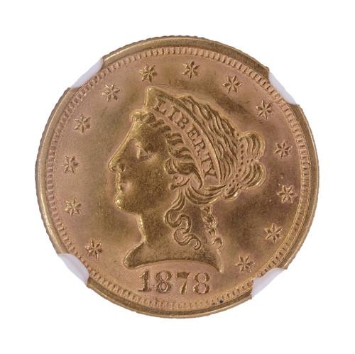 1878 Liberty Head Gold Quarter Eagle MS63 NGC - Obverse