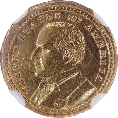1903 McKinley Louisiana Purchase Gold Dollar AU Details NGC - Obverse