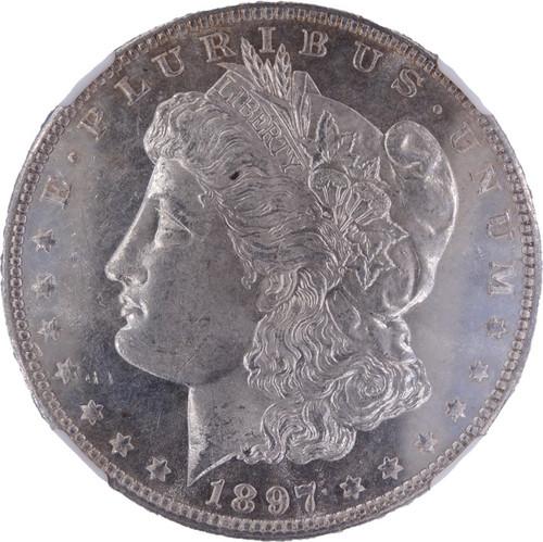 1897 Morgan Dollar MS64 Prooflike NGC - obverse