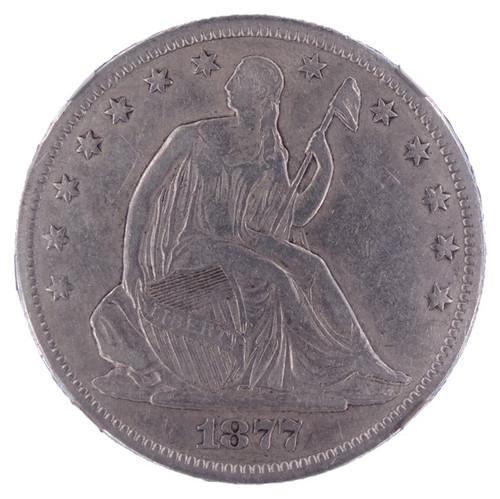 1877-CC Seated Liberty Half Dollar XF40 NGC - obverse