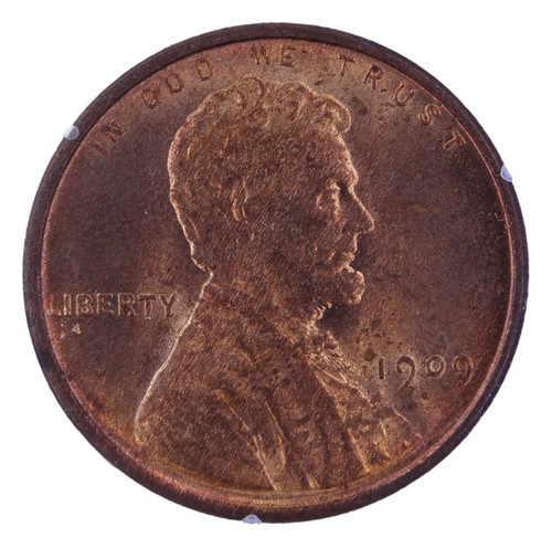 1909 VDB Lincoln Cent MS64 Red PCGS - OGH - Obverse