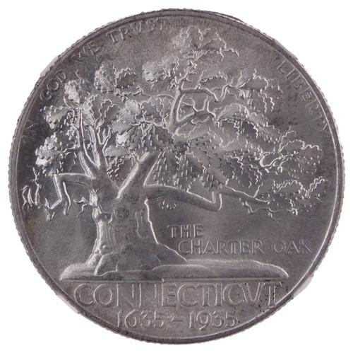 1935 Connecticut  Commemorative Half Dollar MS65 NGC - obverse