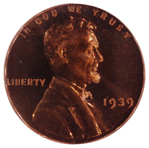 1939 Lincoln Cent Proof PR66 Red CAC PCGS - obverse
