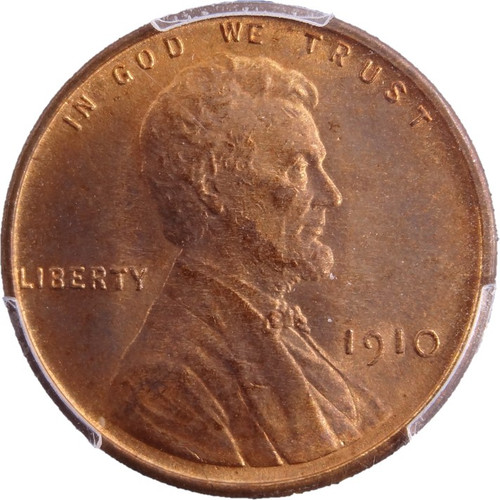 1910 Lincoln Cent MS65 Red - PCGS - obverse