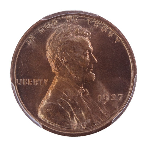 1927 Lincoln Cent MS65+ Red PCGS - obverse