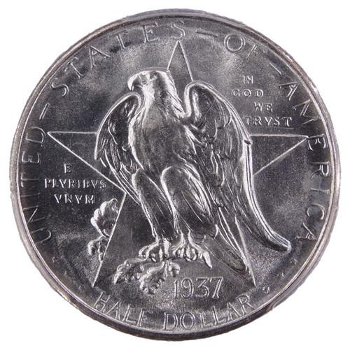 1937-D Texas Commemorative Half Dollar MS67 PCGS CAC - Obverse
