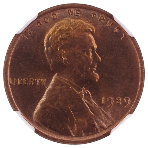 1929 Lincoln Cent MS67 Red NGC - Obverse