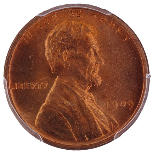 1909 VDB Lincoln Cent Double Die Obverse (DDO) MS64 Red PCGS - Obverse