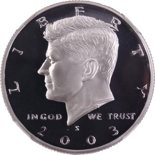 2003-S Kennedy Silver Half Dollar PF70 Ultra Cameo NGC - Obverse