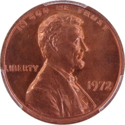 1972 Lincoln Cent Double Die Obverse (DDO) MS66 Red PCGS - Obverse