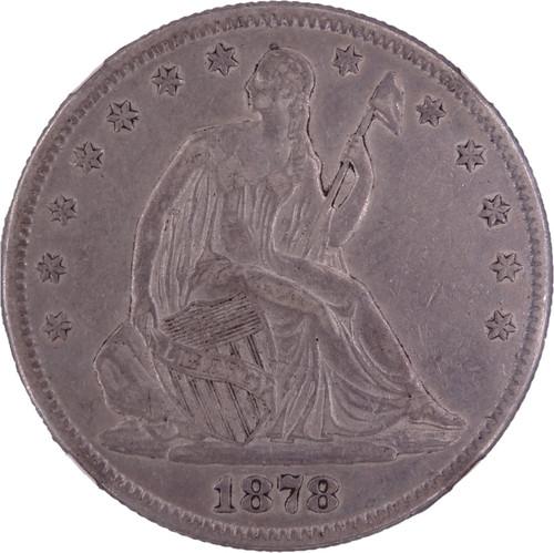 1878 Seated Liberty Half Dollar XF45 NGC - Obverse