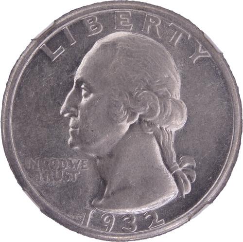 1932-D Washington Quarter AU Details NGC - Obverse