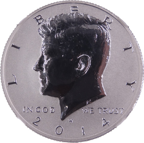 2014-W Kennedy Silver Half Dollar 50th Anniversary Set High Relief Reverse Proof First Strike PR70 NGC - Obverse