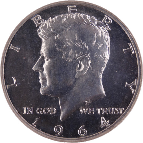 1964 Kennedy Half Dollar Silver Proof PF67 Cameo NGC - Obverse