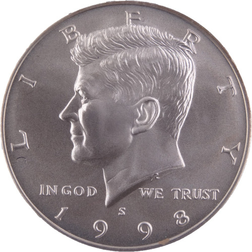 1998-S Kennedy Silver Special Mint Set Half Dollar MS68 PCGS - Obverse