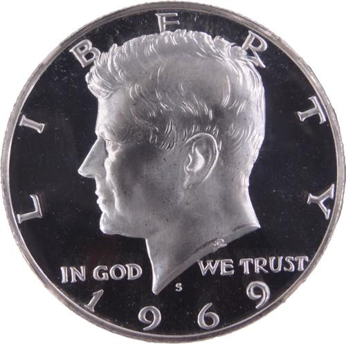 1969-S Kennedy Half Dollar Proof PF69 Ultra Cameo NGC - Obverse
