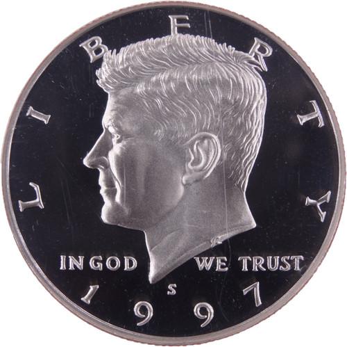 1997-S Kennedy Half Dollar Clad Proof PF70 Ultra Cameo - Obverse