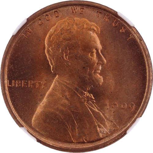 1909 VDB Lincoln Cent MS66 Red NGC - Obverse