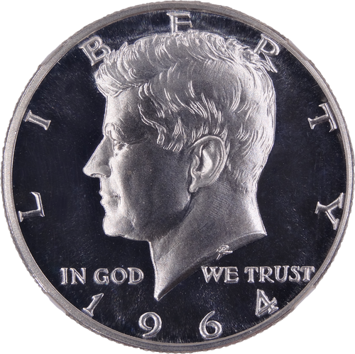 1964 Kennedy Half Dollar Silver Proof PF68 Ultra Cameo NGC - Obverse